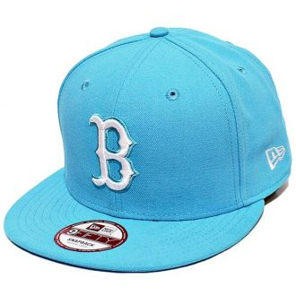 Boné New Era Aba Reta 950 SN MLB Boston Basic Colors Azul Claro