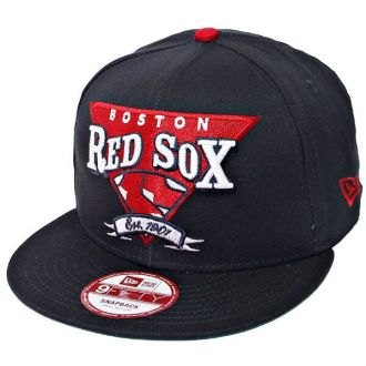 Boné New Era Aba Reta 950 SN MLB Boston Team Angle Azul Escuro