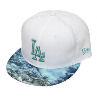 Boné New Era Aba Reta 950 SN MLB Los Angeles Visor Reel