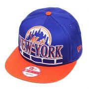 Boné New Era Aba Reta 950 SN MLB Mets Stack Punch