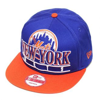 Boné New Era Aba Reta 950 SN MLB Mets Stack Punch