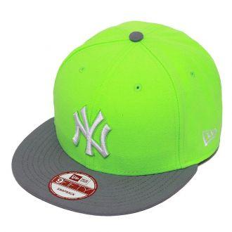 Boné New Era Aba Reta 950 SN MLB NY Yankees 2Tone League Verde