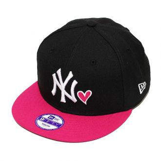 Boné New Era Aba Reta 950 SN MLB NY Yankees Heart Infantil