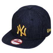 Boné New Era Aba Reta 950 SN MLB NY Yankees OF Denim Azul