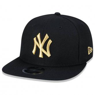 Boné New Era Aba Reta 950 SN MLB NY Yankees OF Gold Preto