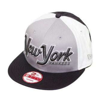 Boné New Era Aba Reta 950 SN MLB NY Yankees Snapitback Cinza