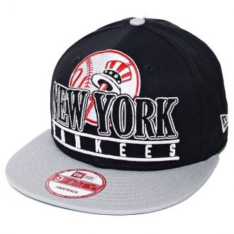 Boné New Era Aba Reta 950 SN MLB NY Yankees Stack Punch Azul Escuro