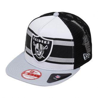 Boné New Era Aba Reta 950 SN NFL Raiders Band Slap