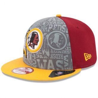 Boné New Era Aba Reta 950 SN NFL Redskins Draft Reflective