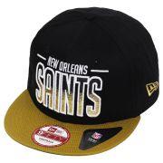 Boné New Era Aba Reta 950 SN NFL Saints Team Fade