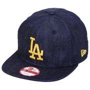 Boné New Era Aba Reta 950 ST MLB Los Angeles OF Denim Azul Escuro