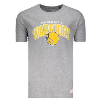 Camiseta Mitchell & Ness NBA Golden State Warriors Team Arch Cinza