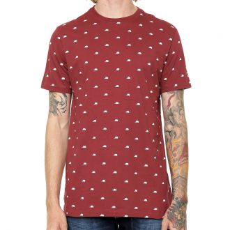 Camiseta New Era Brand Flag Mini Cap Vinho