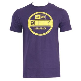 Camiseta New Era Brand Flag Sticker Strap Roxo