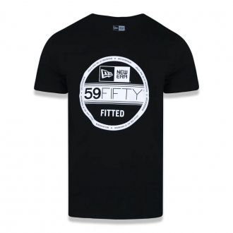 Camiseta New Era Brand Selo 5950 Essentials Preto