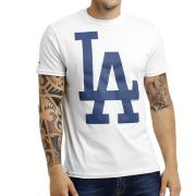 Camiseta New Era MLB Los Angeles Big Logo Branco