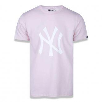 Camiseta New Era MLB NY Yankees Essentials Rosa