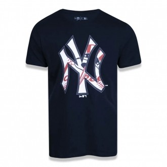 Camiseta New Era MLB NY Yankees EUA Print