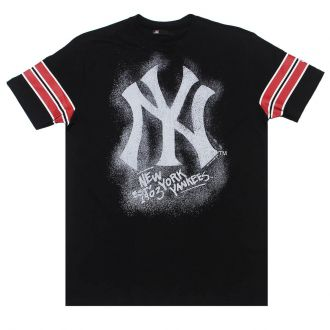 Camiseta New Era MLB NY Yankees Nac Chalk Preto