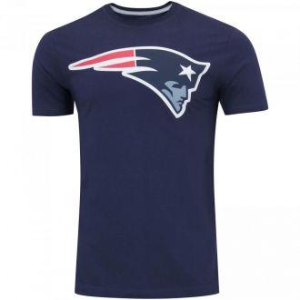 Camiseta New Era NFL Patriots Big Logo Azul Escuro