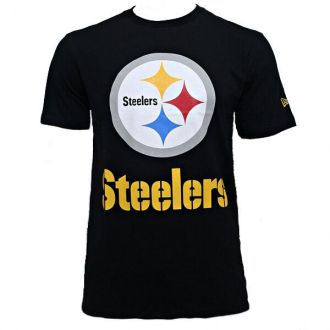 Camiseta New Era NFL Steelers Big Logo Preto