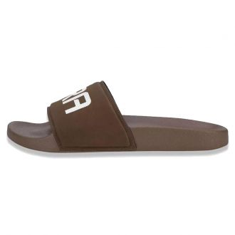 Chinelo New Era Slide Tipia Brand Flag Colors Marrom