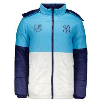 Jaqueta New Era MLB NY Yankees Bomber Motorsport Dupla Face