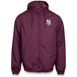 Jaqueta New Era MLB NY Yankees Corta Vento Basic Vinho