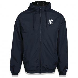 Jaqueta New Era MLB NY Yankees Corta Vento Basic Azul Escuro