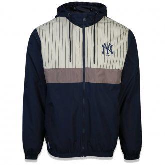 Jaqueta New Era MLB NY Yankees Corta Vento Stripe