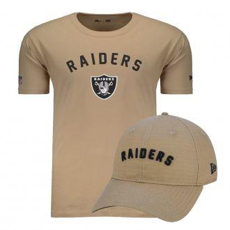 Kit Boné + Camiseta New Era Raiders Ground Essentials