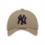 Boné New Era Aba Curva 940 SN MLB NY Yankees AF Bicolors Marrom Claro