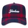 Boné New Era Aba Curva 940 SN MLB NY Yankees AF Plaid Script