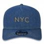Boné New Era Aba Curva 940 ST Brand AF NYC Denim