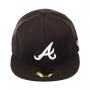 Boné New Era Aba Reta 5950 MLB Atlanta Basic Colors Marrom