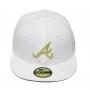 Boné New Era Aba Reta 5950 MLB Atlanta Basic Gold Branco