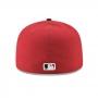 Boné New Era Aba Reta 5950 MLB Cincinnati On Field Game Vermelho