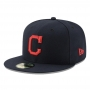 Boné New Era Aba Reta 5950 MLB Indians Game Cap