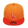Boné New Era Aba Reta 5950 MLB Los Angeles Tint Basic Laranja