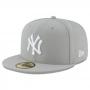 Boné New Era Aba Reta 5950 MLB NY Yankees Basic Colors Cinza