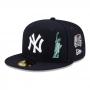 Boné New Era Aba Reta 5950 MLB NY Yankees City Transit