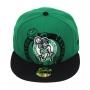 Boné New Era Aba Reta 5950 NBA Celtics Over Flock