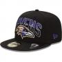Boné New Era Aba Reta 5950 NFL Ravens Draft Team