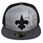 Boné New Era Aba Reta 5950 NFL Saints Reflective