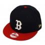 Boné New Era Aba Reta 950 SN MLB Boston Team Hasher Azul Escuro