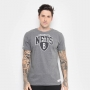 Camiseta Mitchell & Ness NBA Brooklyn Nets Team Arch Cinza