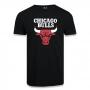 Camiseta New Era NBA Chicago Bulls Basic Time Preta
