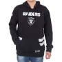 Moletom New Era NFL Raiders Listras Preto