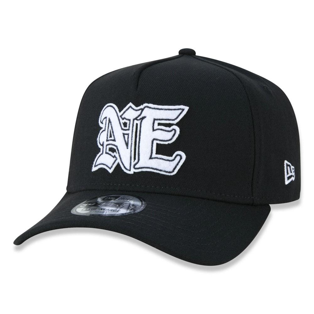 Boné New Era Aba Curva 3930 Brand AF Black Squad