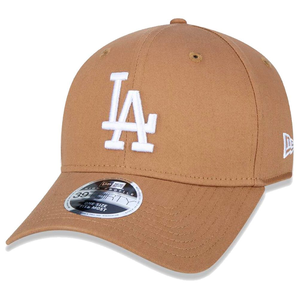 Boné New Era Aba Curva 3930 MLB Los Angeles Colors Marrom Claro